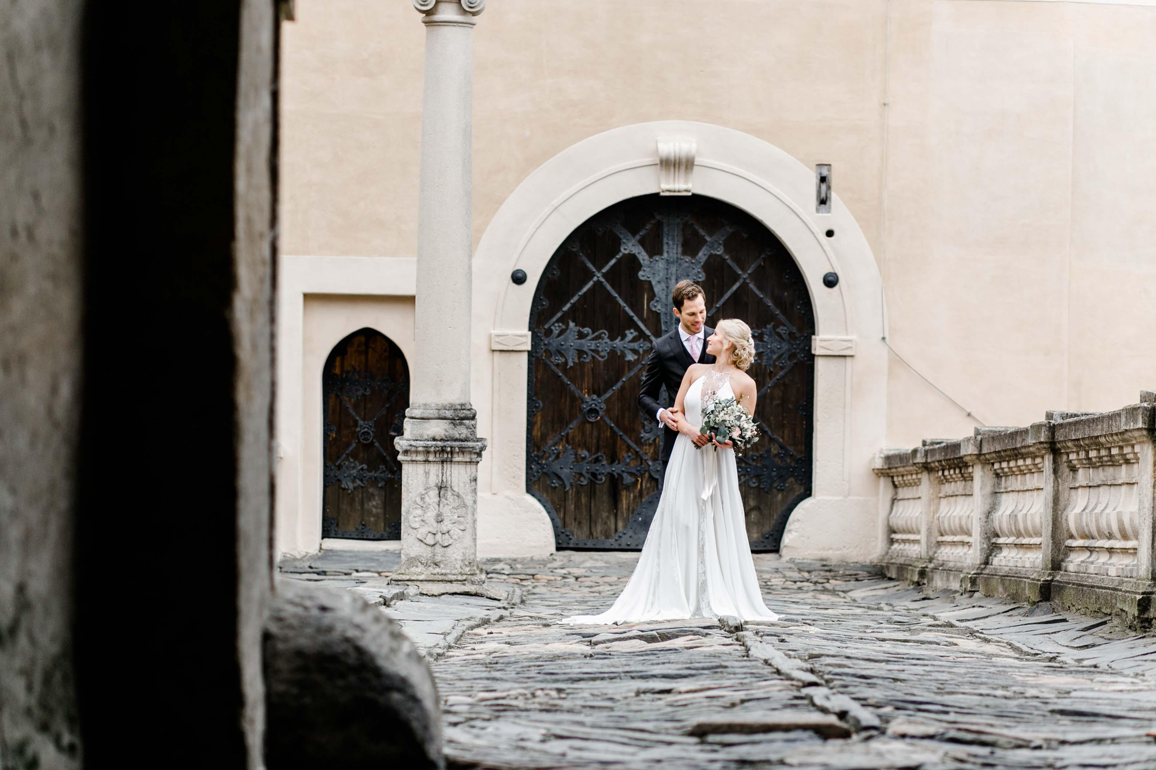 Hochzeit Rosenburg Brautpaar