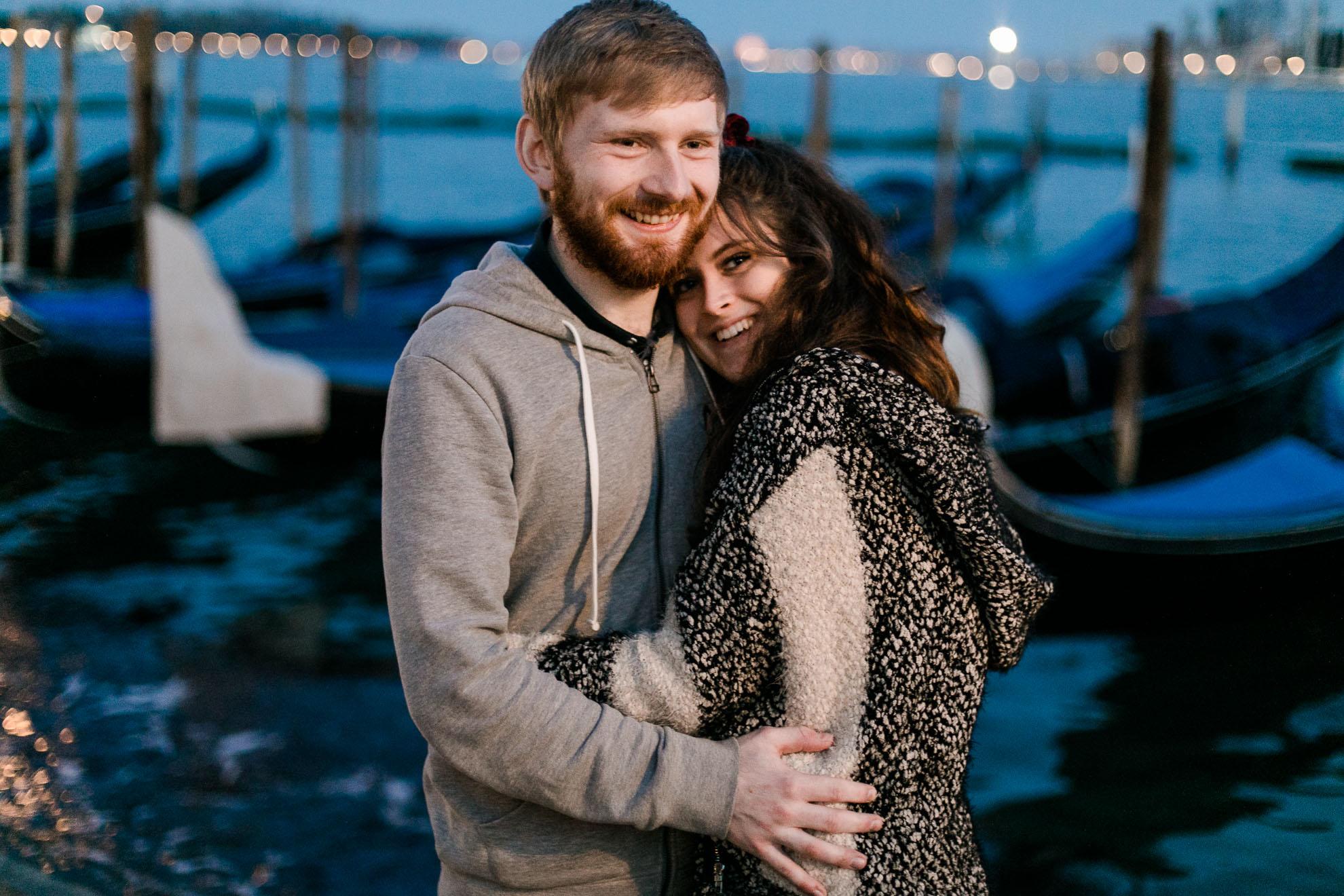 glückliches Paar in Venedig aus Australien