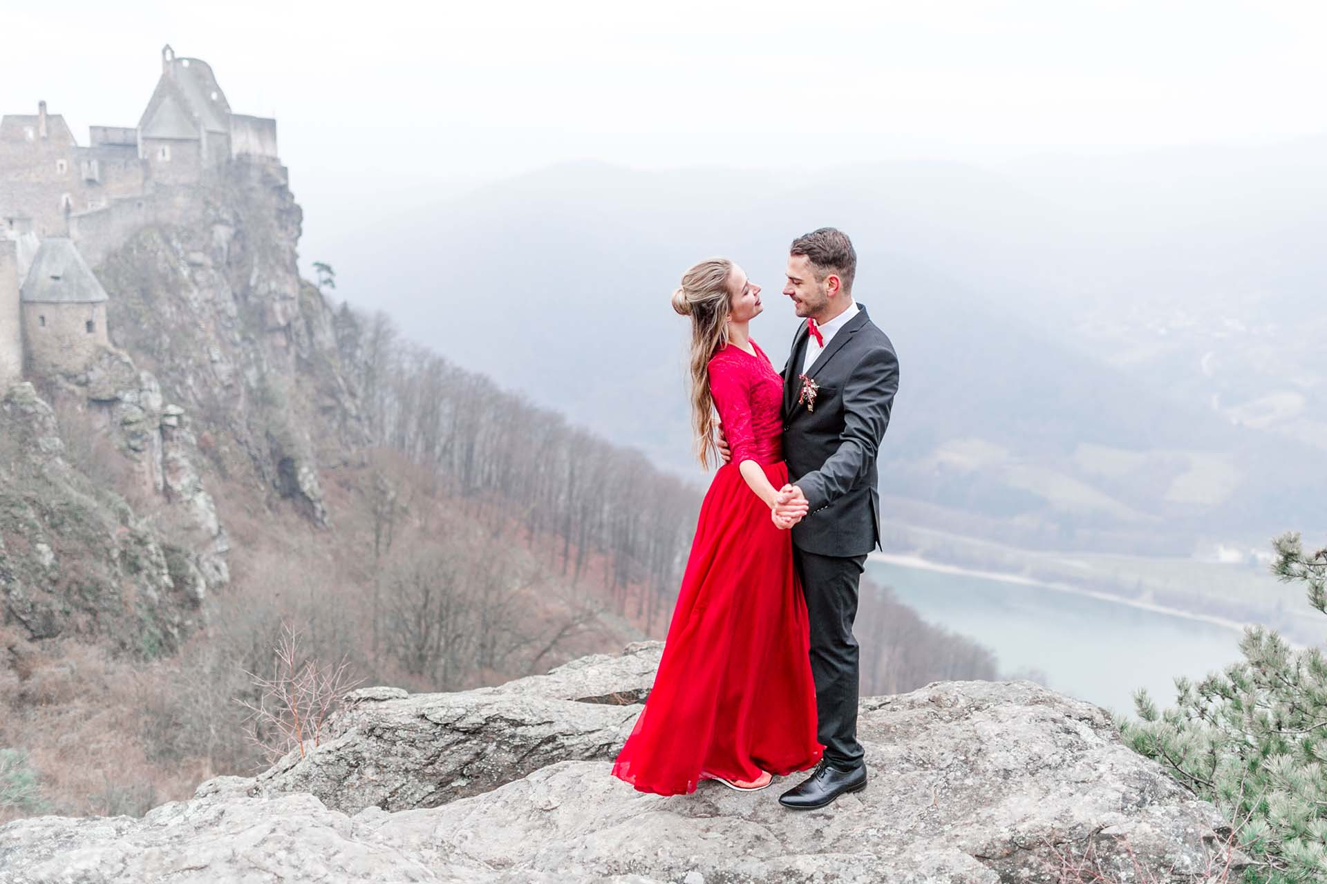 Elopement im Winter Burg Aggstein