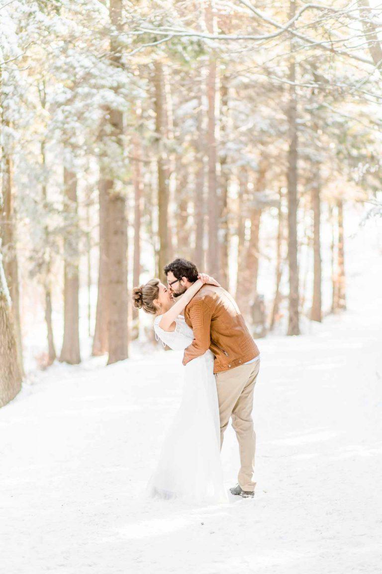 Winterhochzeit Bohohochzeit Hochzeit im Schnee
