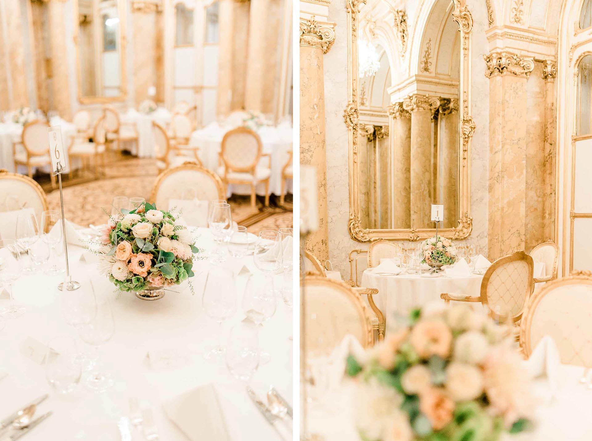 Heiraten Palais Coburg Hochzeit Hochzeitsfotos japanisch - österreichische Hochzeit gelber Saal