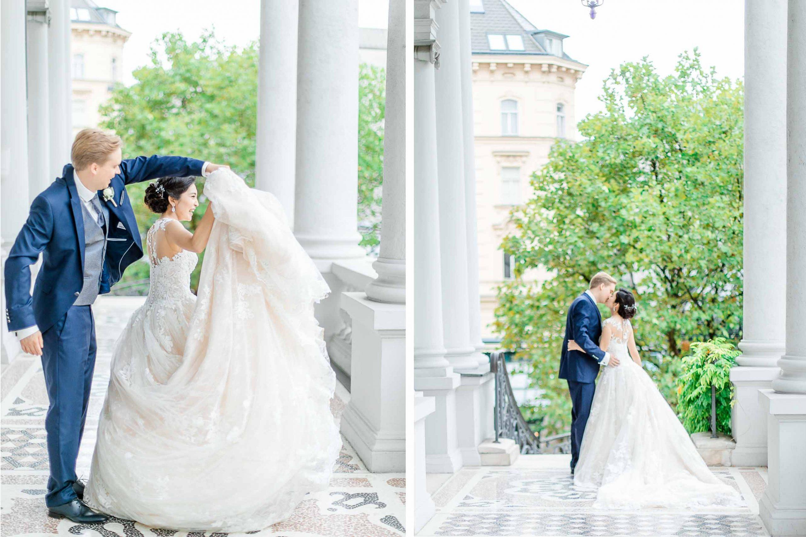 Mödling Hochzeitsfotograf Wien heiraten Palais Coburg Hochzeit