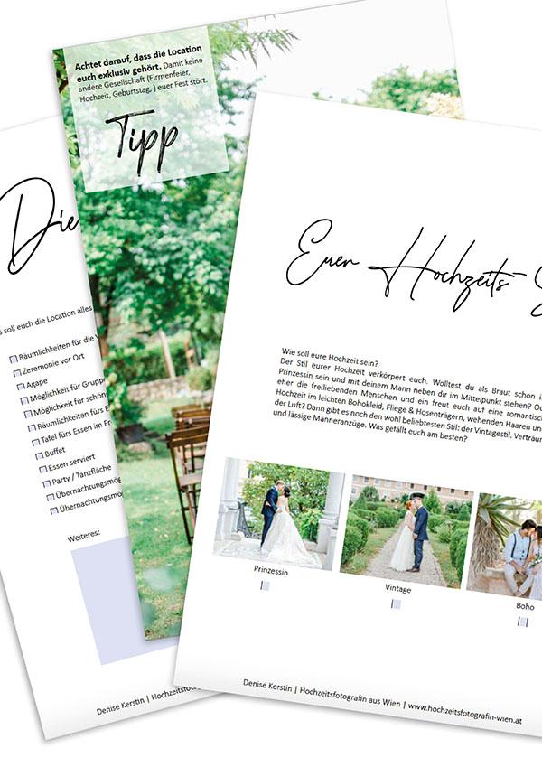 Hochzeitsguide Hochzeitscheckliste Hochzeitsfotograf Wien heiraten Mödling