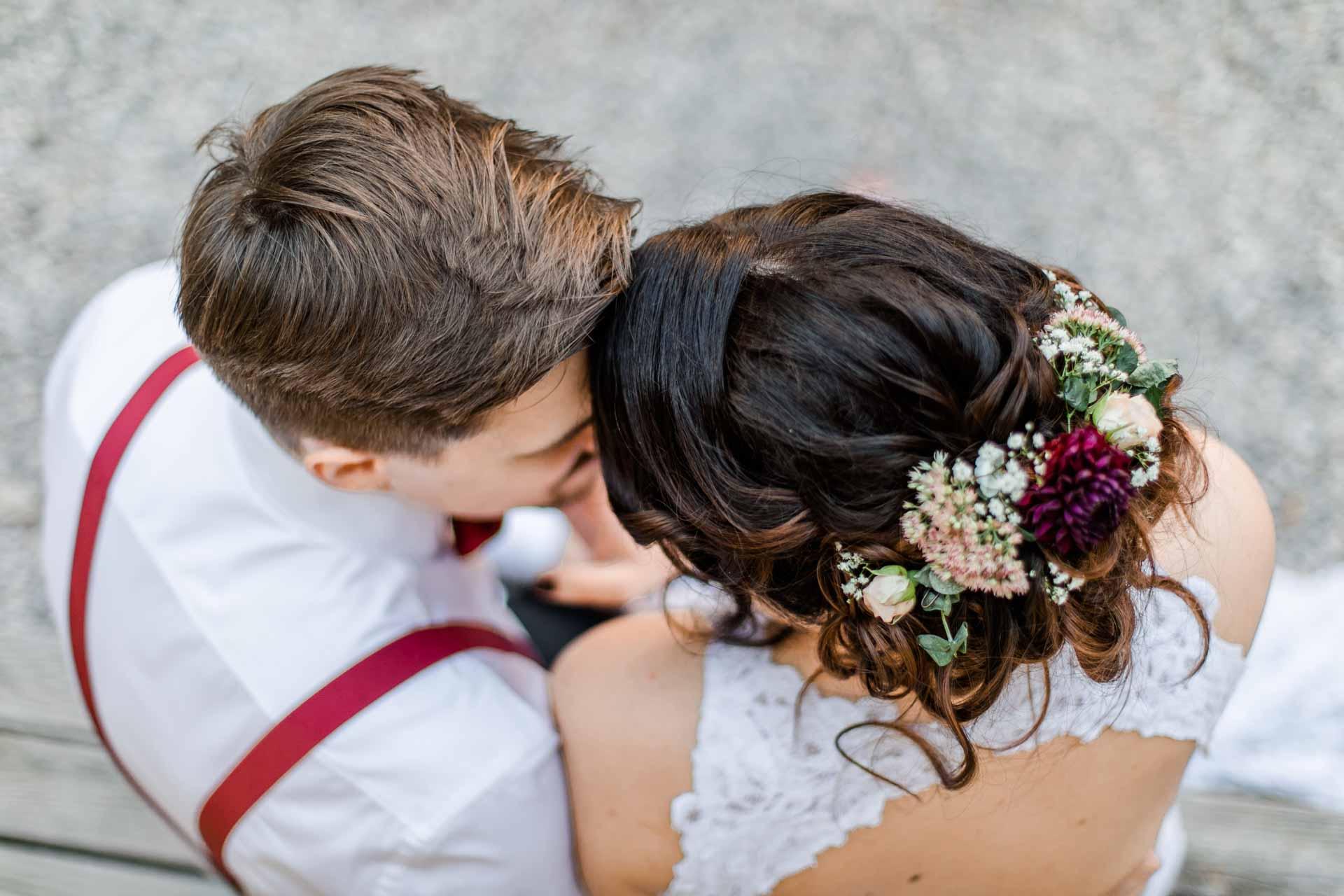 Himmelblau Rust Boho-Hochzeit Burgenland heiraten Boho Paarshooting
