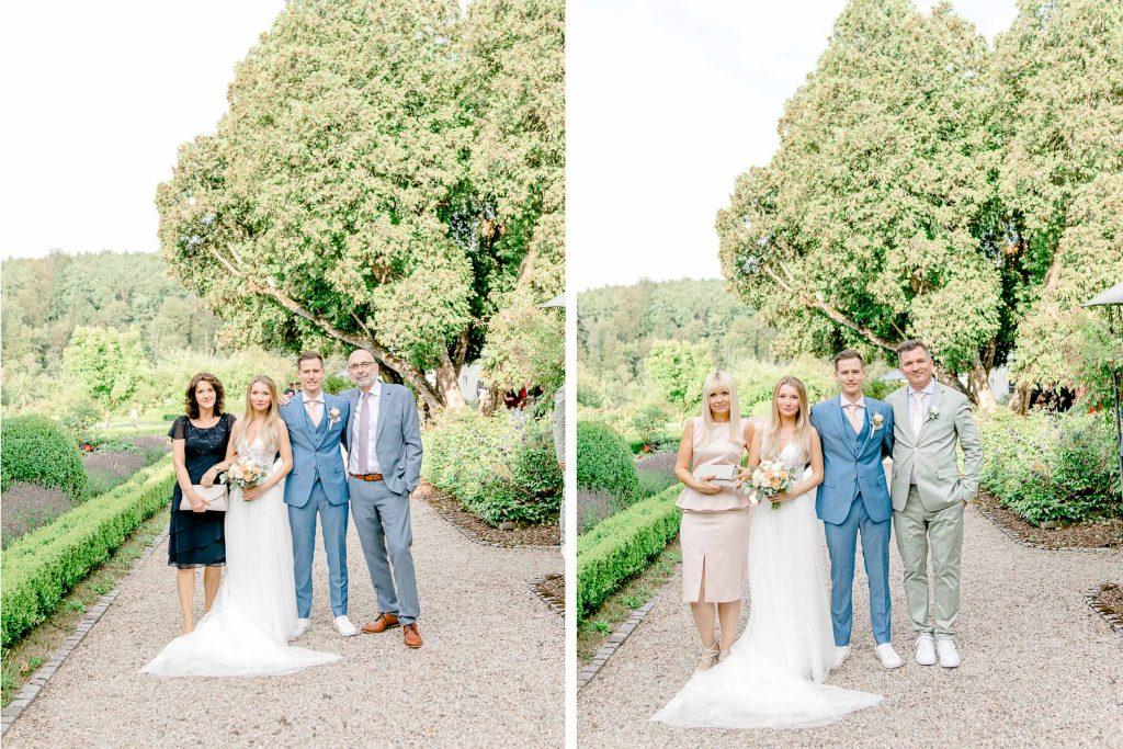 Hochzeitsfotos bohohochzeit Brautpaarfotos Sonnenuntergang freie Trauung Hochzeitsguide Hochzeitstipps Hochzeitsfotograf Wien Fine Art helle Hochzeitsfotos kirchliche Hochzeit Gruppenfoto Hochzeit