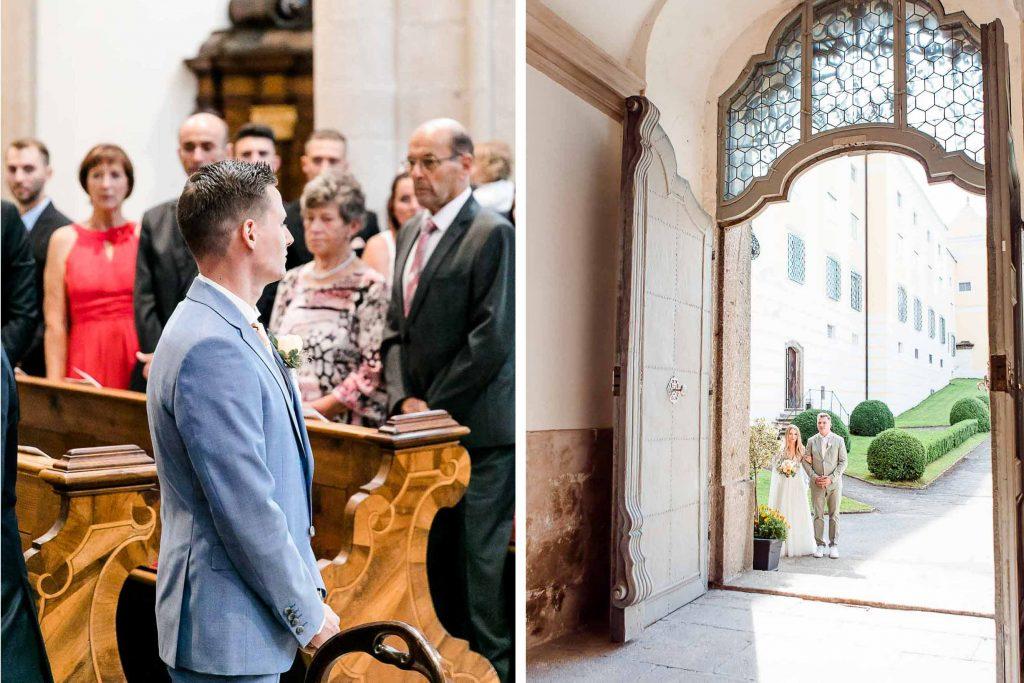 Hochzeit in Niederösterreich heiraten Bohohochzeit Vintagehochzeit Brautkleid Pronovias Flossmann Hochzeitsanzug Joop Hochzeit Kirche Stift Zwettl Hochzeit Österreich Wien