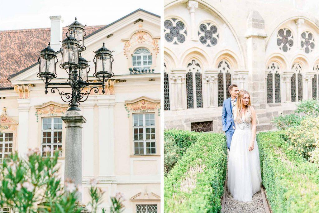 Hochzeit in Niederösterreich heiraten Bohohochzeit Vintagehochzeit Brautkleid Pronovias Flossmann Hochzeitsanzug Joop Paarshooting Stift Zwettl Hochzeitsfotos