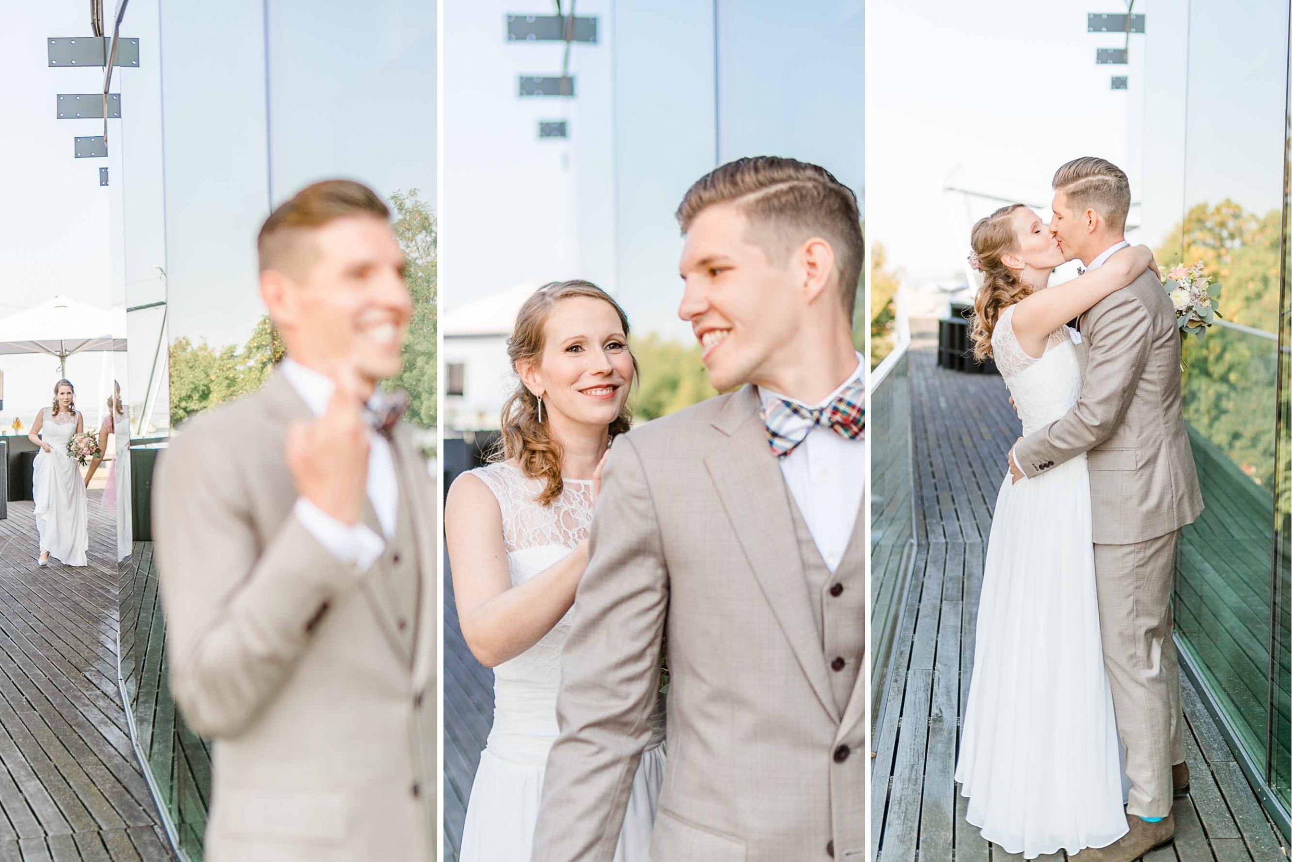 Hochzeit Kahlenberg Ellipse heiraten Kahlenberg Hochzeitsfotograf Wien First Look