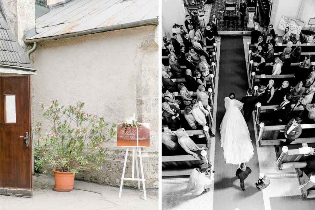 Kirchliche Hochzeit vor der Hochzeitsfeier in der Hochzeitslocation Fontana Hochzeitsfotograf Niederösterreich Hochzeitsfotograf Wien Mödling