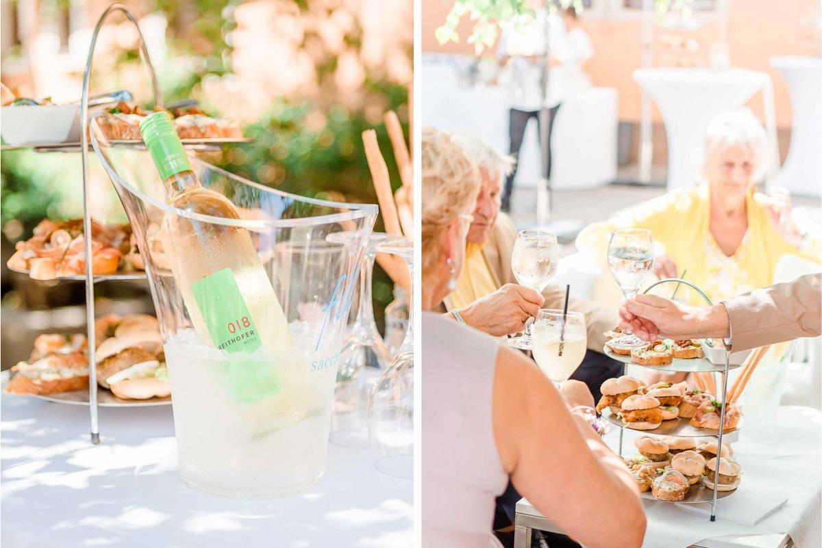 Kirchliche Hochzeit vor der Hochzeitsfeier in der Hochzeitslocation Fontana Hochzeitsfotograf Niederösterreich Hochzeitsfotograf Wien Mödling Agape im Freien